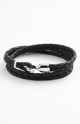 Men's Miansai 'Trice' Braided Leather Wrap Bracelet $95 thestylecure.com