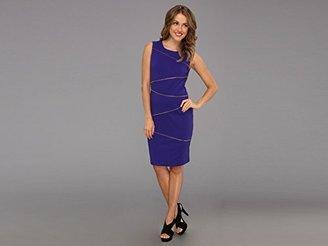 Calvin Klein Women's Zigzag Seam Dress