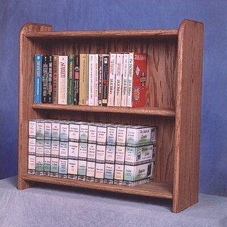 Wood Shed 200 Series 80 DVD Multimedia Tabletop Storage Rack Wood Shed