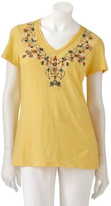 Sonoma life + style ® floral embellished tee