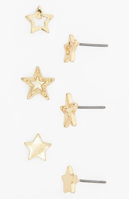 Stephan & Co Star Stud Earrings (Set of 3) (Juniors)