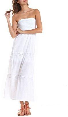 Charlotte Russe Crochet Inset Tube Maxi Dress