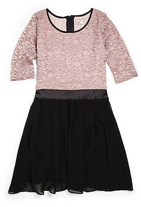 Sally Miller Girl's The Corey Lace Chiffon Dress