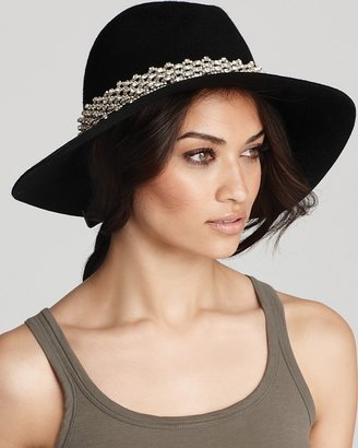 Juicy Couture Floppy Fedora with Embellished Band