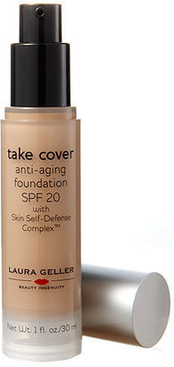 Laura Geller Take Cover Anti-Aging Foundation Broad Spectrum SPF 20 with Skin Self-Defense Complex, Medium 30 ml