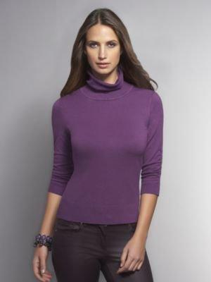 New York & Co. Turtleneck Sweater with Self Belt