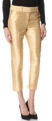 Halston Dupioni Cropped Pants