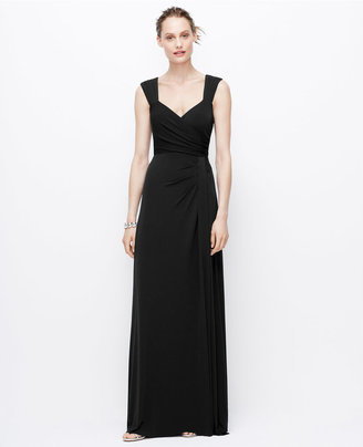 Ann Taylor Jersey Tucked Strap Gown