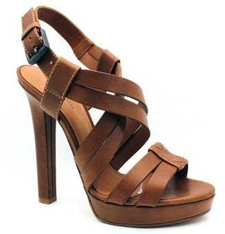 "Bottega Veneta 307943"" Brown Leather Strappy Platform Sandal"