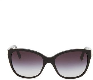 D&G Logo Plaque Square Sunglasses, Black