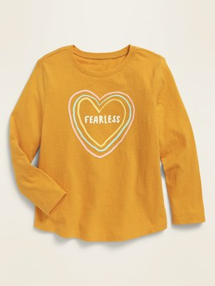 Old Navy Long-Sleeve Graphic Scoop-Neck Tee for Toddler Girls