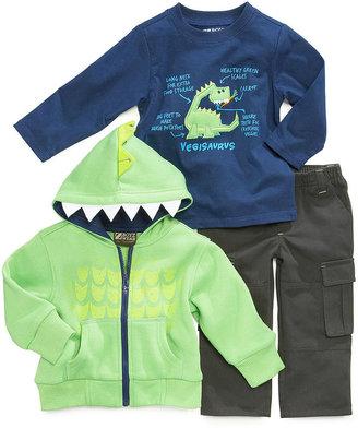 Nannette Baby Boys' 3-Piece Vegisaurus Jacket, Shirt & Pants Set