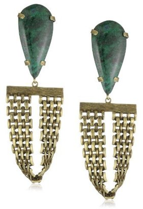Citrine by the Stones Brass Toltec Earrings