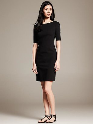 Banana Republic Black T-Shirt Dress