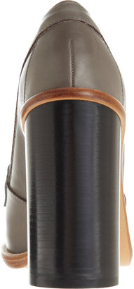 Chloé Lizard-Strap Loafer Ankle Boot