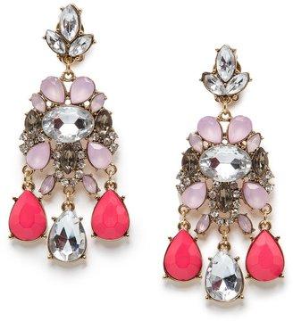 MANGO TOUCH - Crystal embellished chandelier earrings