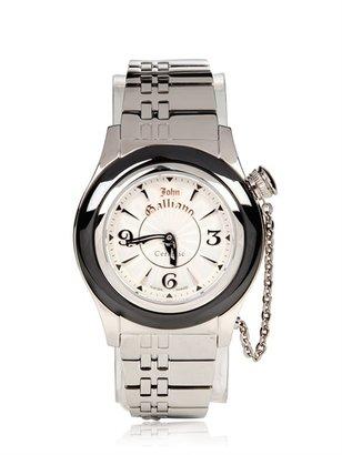 John Galliano 39mm Steel Watch