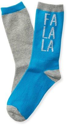 Aeropostale 2-Pack Fa La La Crew Socks