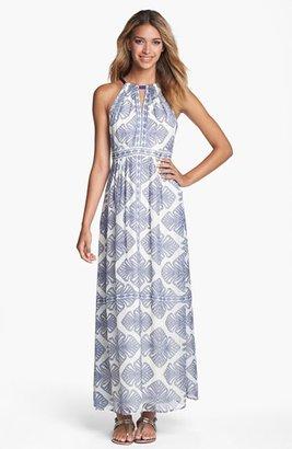 Vince Camuto Print Cutaway Maxi Dress