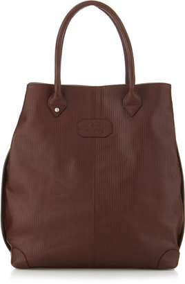 Gianfranco Ferre GF Large Lined Leather Tote Bag, Brown