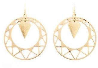 Charlotte Russe Geometric Disk Dangle Earrings
