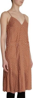 Marni Star Check Deep V-Back Dress