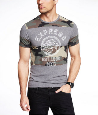 Camo Fitted Graphic Tee - Block Leon