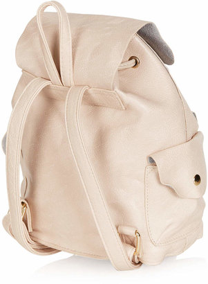 Topshop Suede Backed Mini Backpack