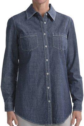 Nexx Studio Denim Tunic Shirt - Stretch Cotton, Long Sleeve (For Women)