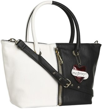 Betsey Johnson On The FlipSide E/W Tote (Black/White) - Bags and Luggage