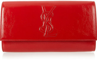 Saint Laurent The Belle de Jour patent-leather clutch