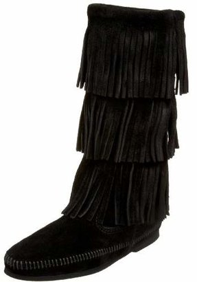 Minnetonka Women's 3-Layer Fringe Boot $97.95 thestylecure.com