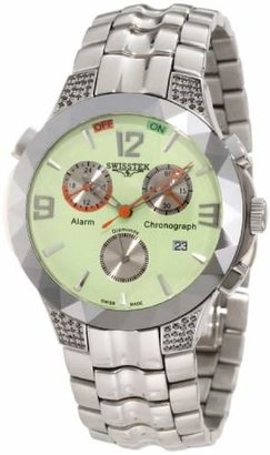 Black Diamond Swisstek SK14614G Limited Edition Watch With Scratch Resistant Tungsten Bezel