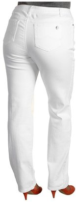 MICHAEL Michael Kors Plus Size Straight Leg Jean in White (White) - Apparel