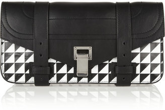 Proenza Schouler The PS1 printed leather clutch