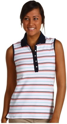 Tommy Hilfiger Amelie Sleeveless Polo (White) - Apparel