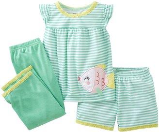 Carter's 3 Piece Striped Set (Toddler) - Fish-2T