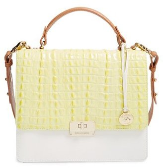 Brahmin 'Cecelia' Croc Embossed Leather Satchel - Yellow $355 thestylecure.com