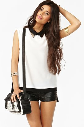 Nasty Gal Studded Colorblock Blouse