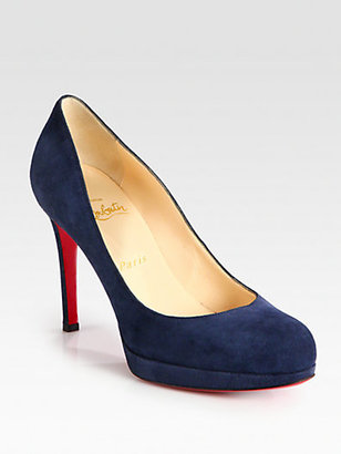 Christian Louboutin New Simple 100 Suede Pumps