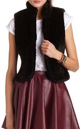 Charlotte Russe Open-Front Faux-Fur Vest