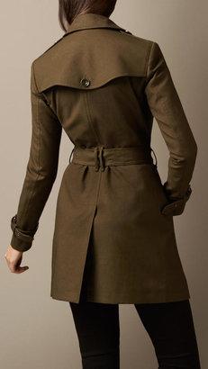 Burberry Mid-Length Cotton Poplin Trench Coat