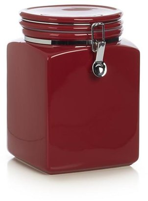 Crate & Barrel Red Clamp Canister