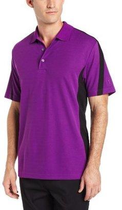 PGA TOUR Men's Short Sleeve Two Color Coaches Blocked Polo Shirt