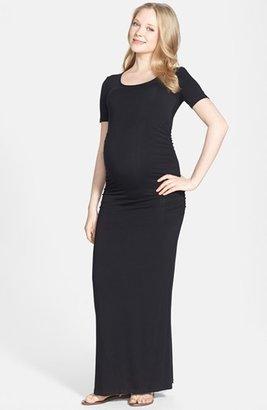 Women's Nom Maternity 'Heidi' Maxi Maternity Dress $96 thestylecure.com