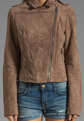 Soia & Kyo Lizzie Suede Leather Jacket