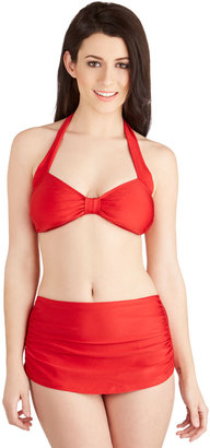 Esther Williams Bathing Beauty Two-Piece Swimsuit in Red
