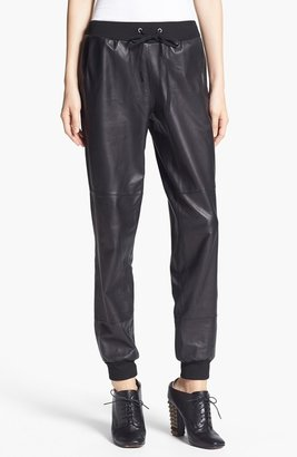 Elizabeth and James 'Kacey' Leather Sweatpants