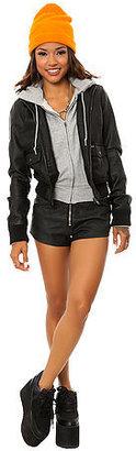 Obey The Jealous Lover Jacket in Black Heather Grey