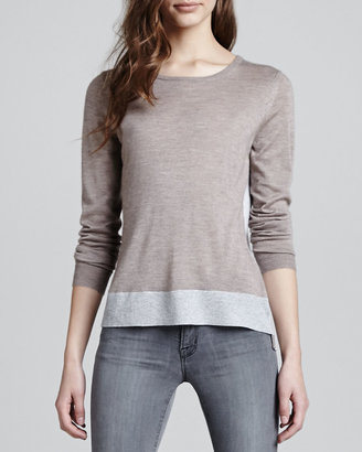 J Brand Ready to Wear Inger Rib-Hem Sweater